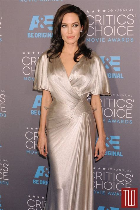 angelina jolie 2015 critics choice movie awards in los angelina jolie in atelier versace at the 2015 critics