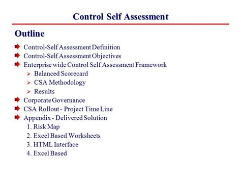 self assessment exle operational risk management framework self