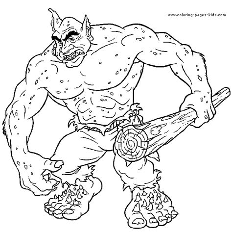 harry potter troll coloring page harry potter color page coloring pages for kids