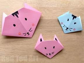 easy craft easy origami cats paper crafts for ted s