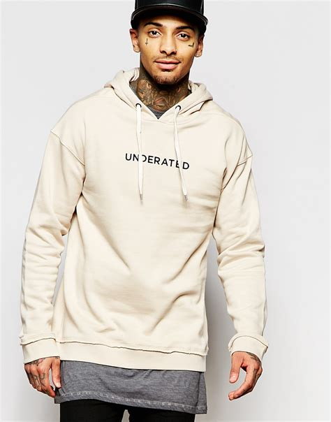 Hoodie Underated With Back Print Hitam Underated Hoodie With Back Print In For Lyst