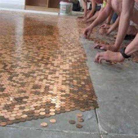 shiny penny floor, so cool! My future home Pinterest Flooring ideas, Pub decor and Guest bath