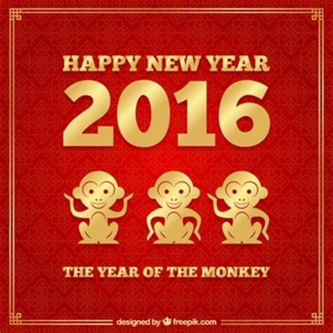 new year golden monkey zebra print vector free