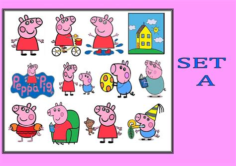 peppa pig new x11 or x12 temporary kids tattoos waterproof