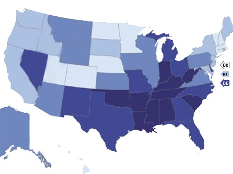 healthiest states in america america s health rankings 2014 business insider
