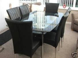 Harveys Dining Table And Chairs Cost To Transport Harvey S Quot Boat Quot Glass Dining Table 6 Chairs From Ferryhill To Reading