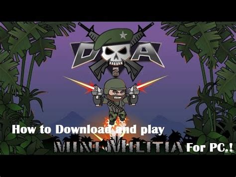 play doodle army and play doodle army 2 mini militia for pc