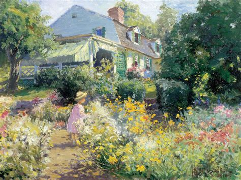 impressionism american gardens on canvas underpaintings