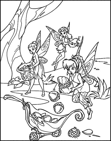 Gambar Mewarnai Peri Cantik Tinkerbell Disney - murid 17