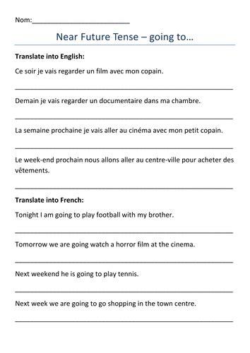 Future Tense Worksheet
