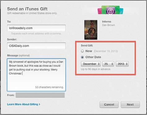 How To Send An Itunes Gift Without A Credit Card - send books media as gifts from itunes on a mac or pc
