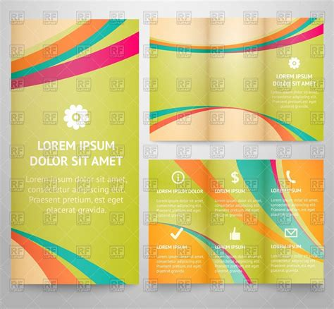 folding flyer templates template of tri fold brochure flyer with abstract pattern