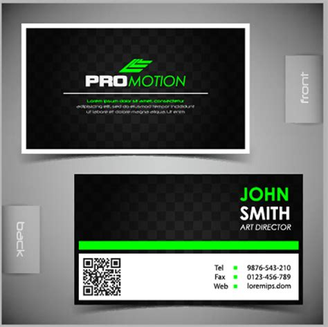 front and back business cards templates modern business cards front and back template vector 03