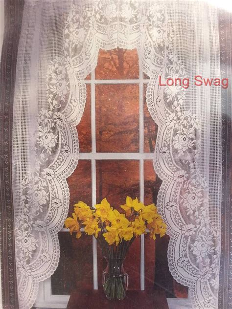 rose lace curtains victorian rose lace curtain swags tiers etc great