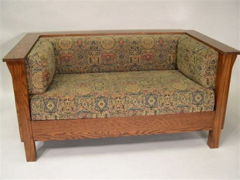 Prairie Style Sofa by Mission Arts And Crafts Stickley Style Prairie Panel Settle