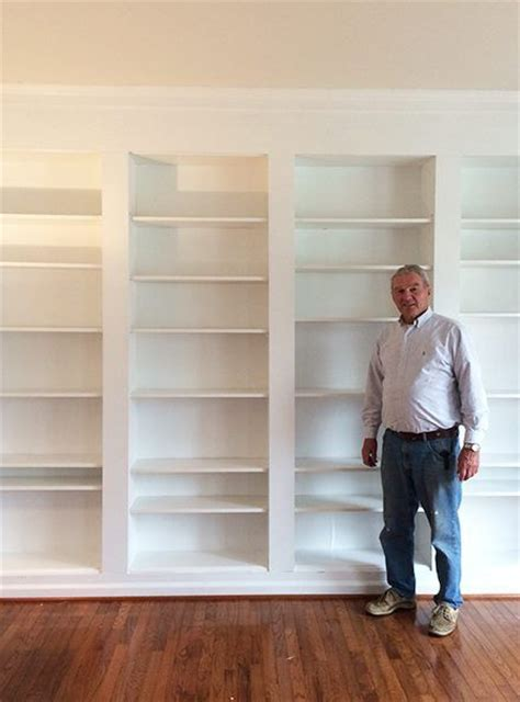 how to build wall bookshelves how to build diy built in bookcases from ikea billy