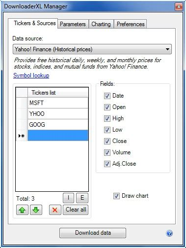 finance in excel 2 import and chart historical stock prices in