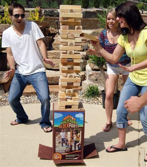 backyard drinking games giant drinking jenga hmmmm party ideas pinterest