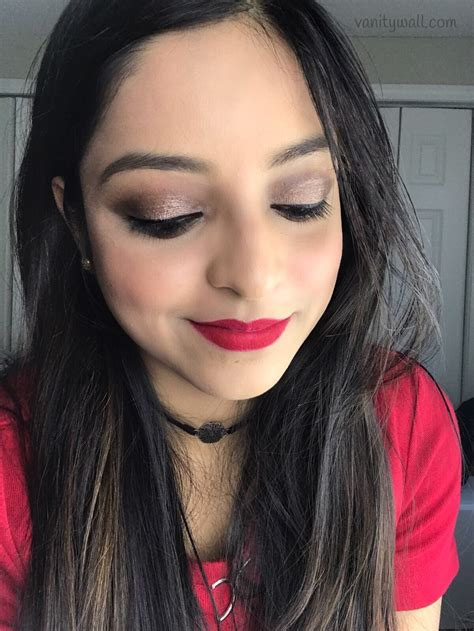 kat von d tattoo liner india christmas party makeup look classic red lip with