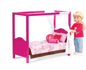 Canopy Beds For 18 Inch Dolls My Sweet Canopy Bed Our Generation Dolls Og Canopy Dolls And Doll Stuff