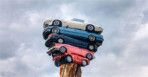 trans  totem  spindle  art  stacking cars amusing planet