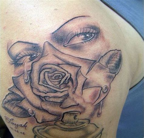 tattoo rose and eye tattoo design trend eye and rose tattoo real eye expressions