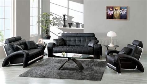 Living Room With Black Furniture by Black And White Living Room Design Ideas