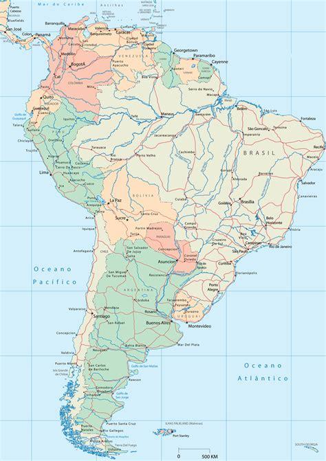 mapa a america do sul mapa da am 233 rica do sul ache tudo e regi 227 o