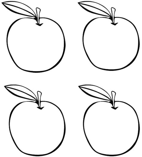 apples coloring kids coloring pages apples preschool fall theme