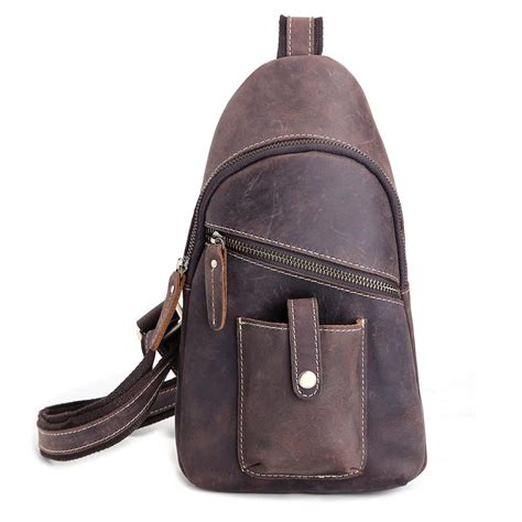 Fashion Sling Bag Mini Bag 311 tiding vintage style leather chest bag for crossbody sling backpacks for mini bag 31082