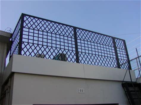 ringhiera terrazzo copri porta cancellate ringhiere divisori copri