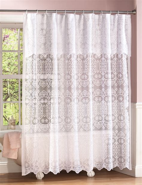 sears bathroom curtains shower curtain with attached valance from sears com