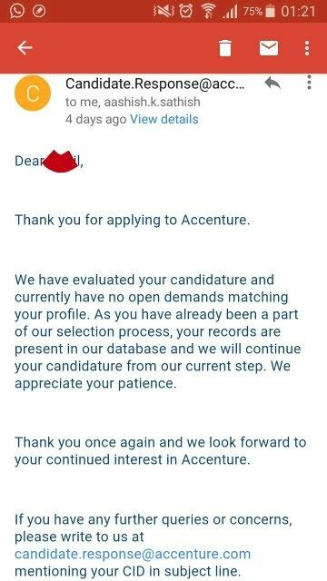 Accenture Offer Letter Queries How Does It Take For Hr To Rollout The Offer Letter After Sending The Documents At