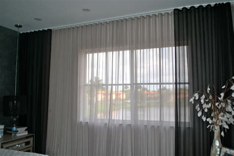 black sheer drapes beatriz miami lakes ripple fold black silver sheer