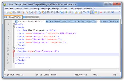 design html website using notepad create custom file templates for programming in notepad
