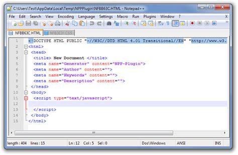 create custom file templates  programming  notepad