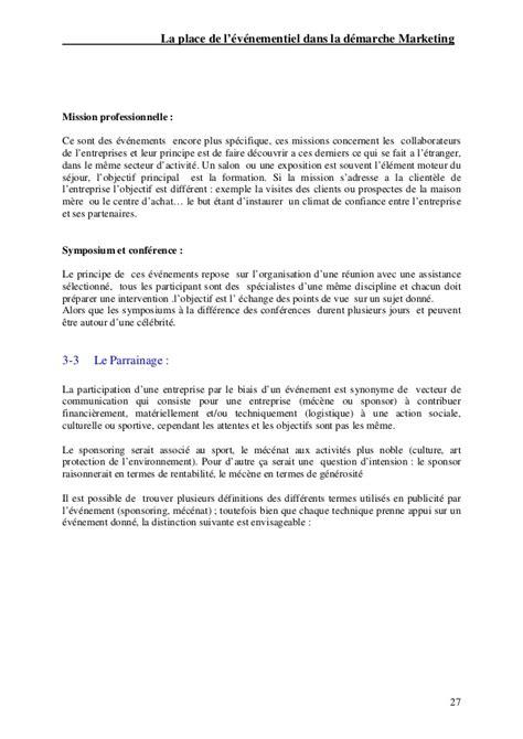 Exemple De Lettre De Remerciement Pour Mémoire Memoire Marketing Evenementiel Fethi Ferhane