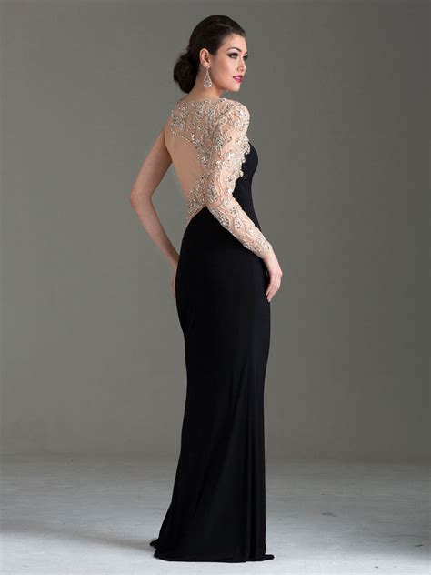 one shoulder evening dress clarisse m6146 promgirl net