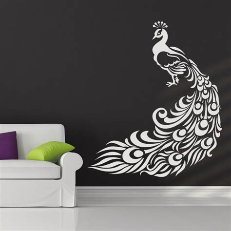 peacock wall stickers peacock bird animal wall stickers wall decal transfers