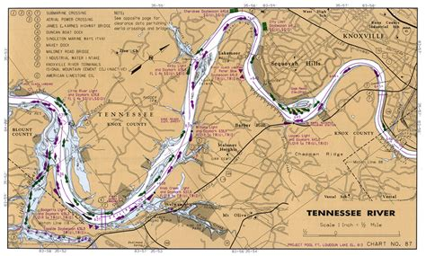 tennessee river map tennessee river