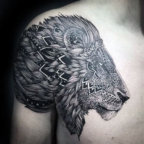 lion shoulder tattoos for men 50 shoulder designs for masculine ink