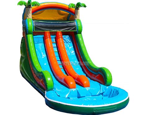 water slide bounce house bouncerland commercial inflatable water slide 2089