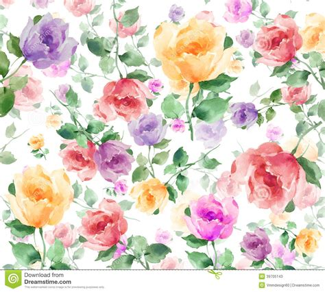 watercolor roses pattern watercolor flowers seamless background pattern download