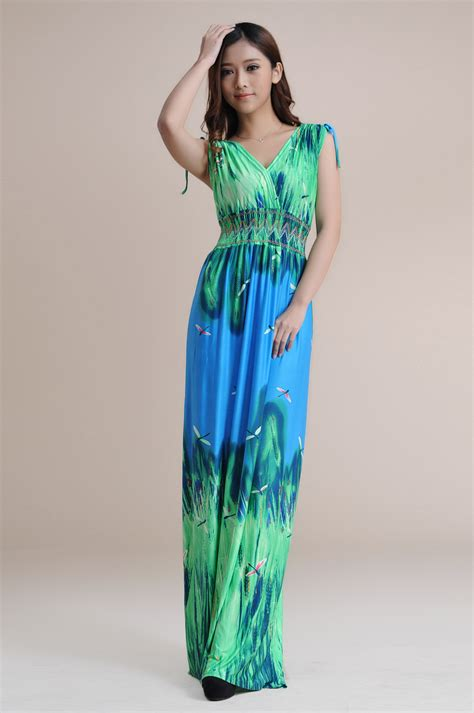 Fashion Dress A30801 Size M fashion floor length print bohemian maxi dress plus size dress size m l xl xxxl xxxxl