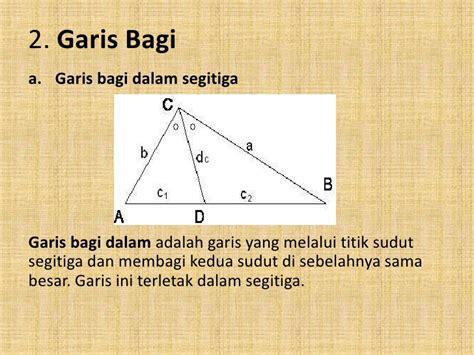 Segitiga Garis kesebangunan dan garis istimewa segitiga