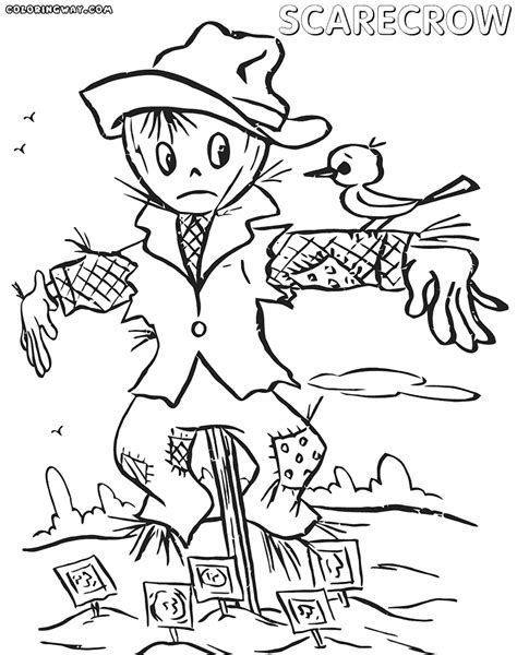 scarecrow coloring page pdf scarecrow coloring pages for kids printable coloring