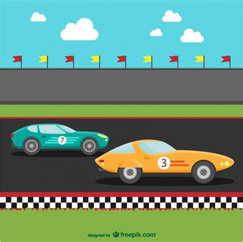 cartoon race car racing cars cartoon vector free download