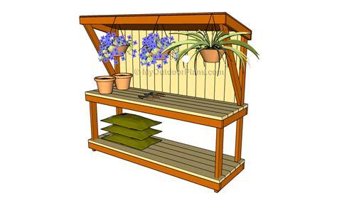 how to build a garden work bench backyard plans myoutdoorplans free woodworking plans