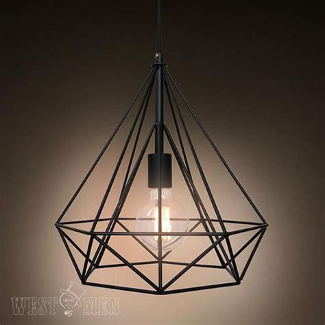 metal light metal wire pendant l diy industrial vintage