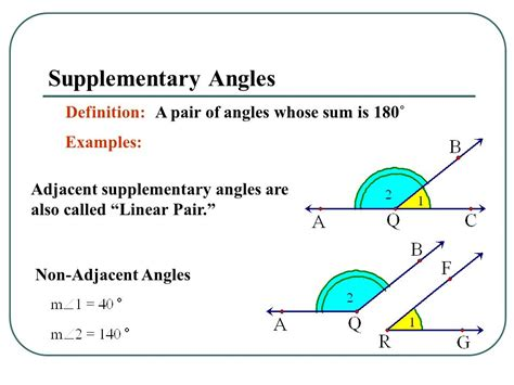 supplementary angles definition 1 3 pairs of angles ppt
